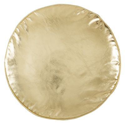Castle Penny Round Cushion ~ Gold