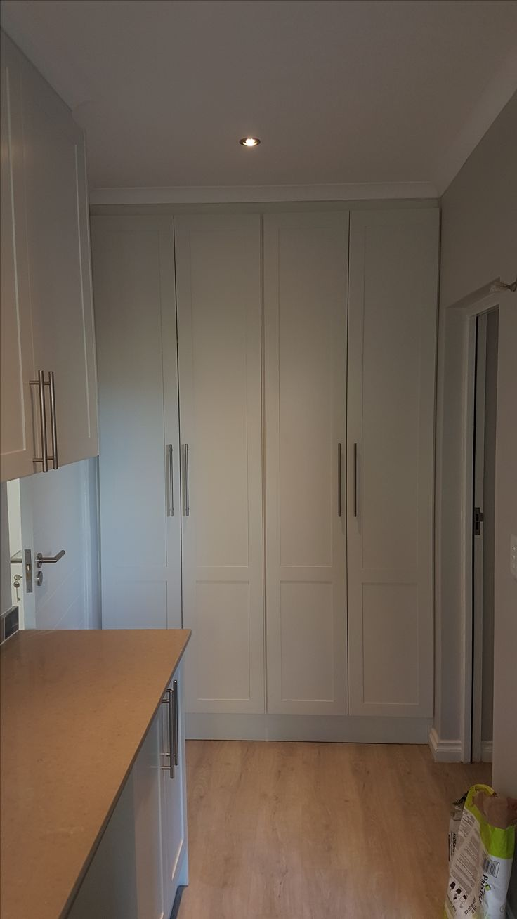Recently completed project at Longlands Estate, Stellenbosch. Shaker style doors, in a Dried Leaf (Plascon) duco finish.