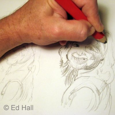 Portrait Sketching 101: How to Sketch Faces: Value Sketching - Establishing Values