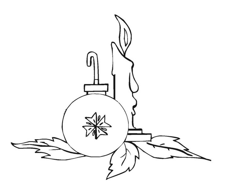 Christmas Ball Ornament Coloring Page