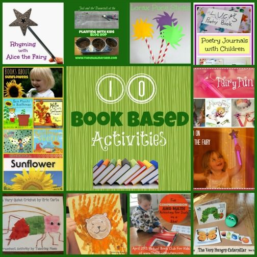 Book based activities for young children. Fun ways to bring a book to life.