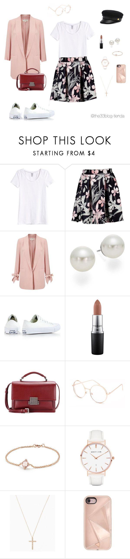 """ootd12"" by jeniffercrystel on Polyvore featuring moda, H&M, Miss Selfridge, AK Anne Klein, Converse, MAC Cosmetics, Yves Saint Laurent, Full Tilt, David Yurman y Abbott Lyon"