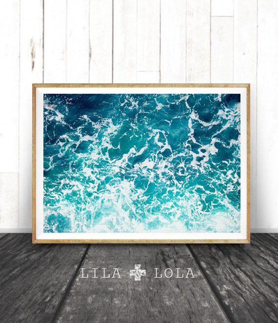 Ocean Art Print, Waves, Water, Coastal Wall Decor, Beach ...