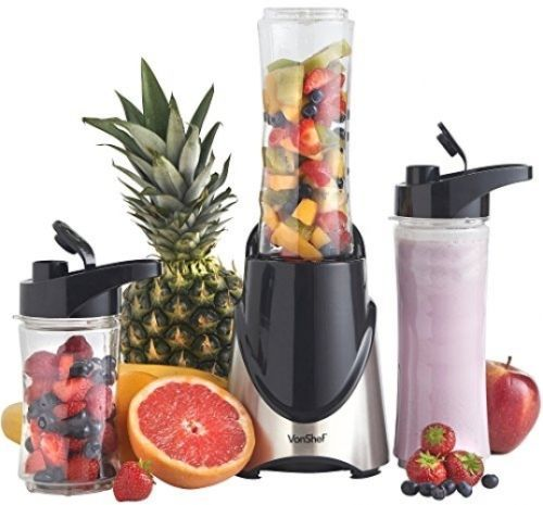 VonShef 300W Stainless Steel Personal Sports Blender, Shake and Smoothie Maker
