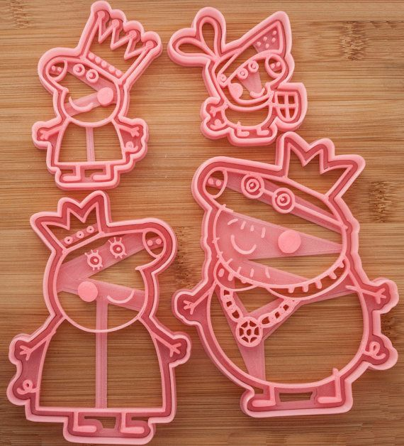 Peppa Pig Royal family. Peppa Pig cartoon.  от CoolCookiesCutters