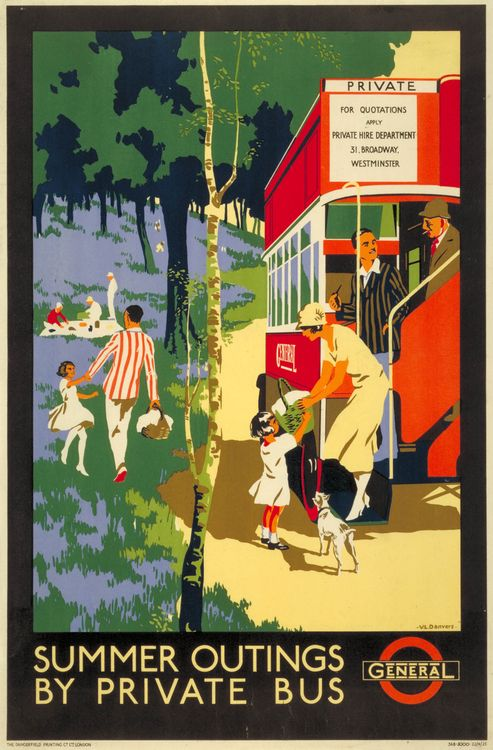 London Transport poster 1925, Verney L Danvers