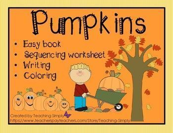 Fun for fall!  Easy reader book, sequencing worksheet, art and creative writing page included.