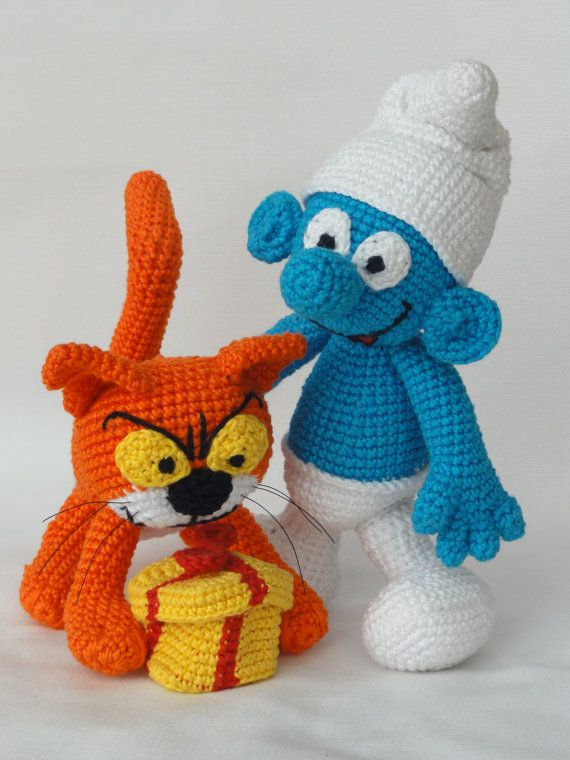 Jokey und Azrael die Katze  Amigurumi Häkeln Muster von IlDikko, $9.20