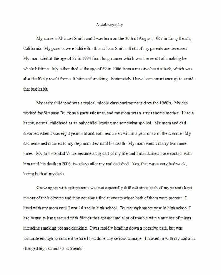 Compare And Contrast Essay Examples High School  Interesting Essay Topics For High School Students also Health Education Essay Examples Of Autobiography Essays Writing A Biography  Essay On Health Awareness