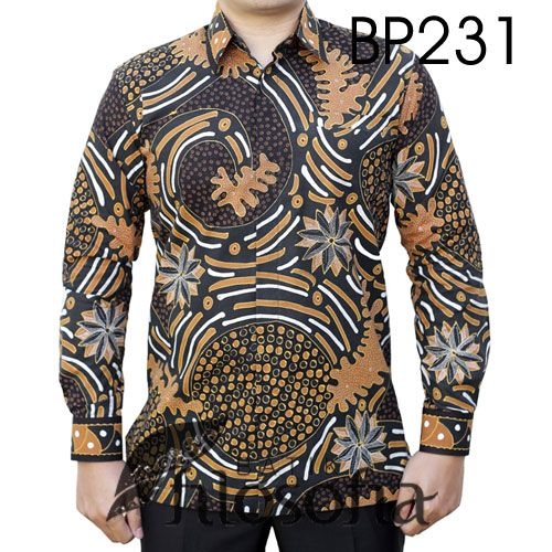 Batik Tulis Indonesia dengan Kode BP231, merupakan batik tulis yang terbuat dari bahan katun. Di bagian dalamnya terdapat furing yang terbuat dari katun. Harga untuk kemeja batik kode 231 ini adalah Rp.650.000