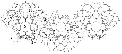 Tatting: Tatted Holly Edging visual pattern