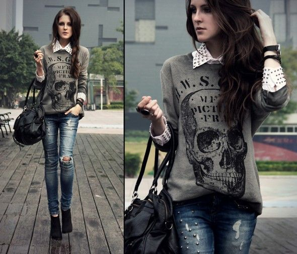 Love the skull sweater