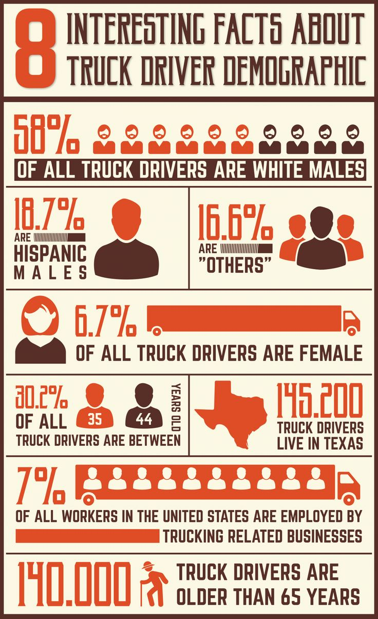 Infographic 8 interesting facts about truck driver demographic facts about truck driver demographic infographic about truck driver demographic