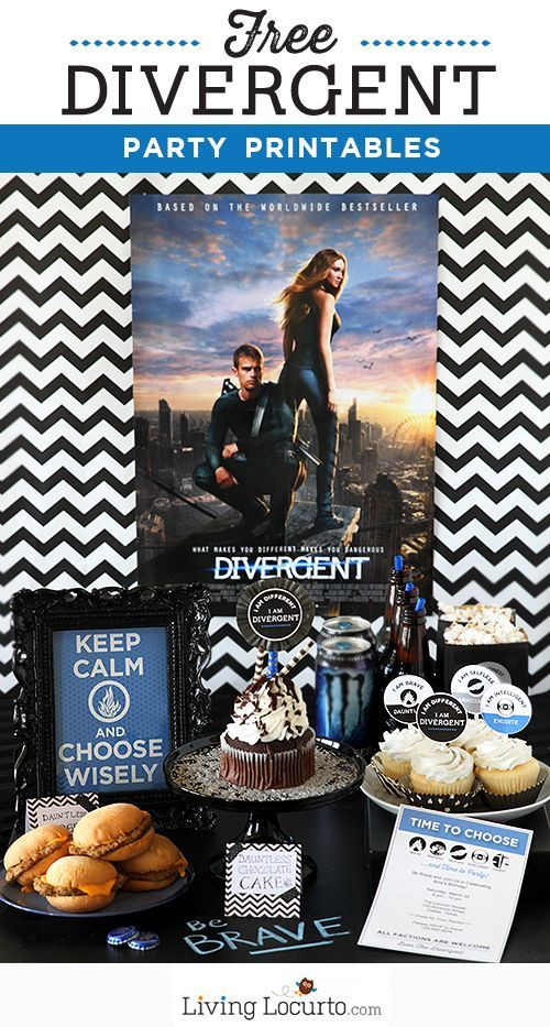 I'm such a fan! Love these Divergent or Insurgent Party Ideas and Free Party Printables. LivingLocurto.com