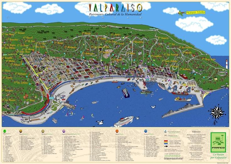 Plano  de VALPARAÍSO: Santa Fernanda, Plan, Valparaiso, Valparaiso Chile, Paraíso Valparaíso