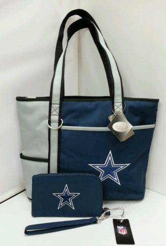 NFL Dallas Cowboys Carry All Tote Bag and Wallet Set