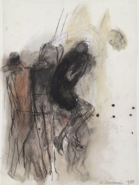 Betty Goodwin (1923-2008) – Carbon (1987) pastel, graphite, oilstick, wash on geofilm. Collection of the Vancouver Art Gallery