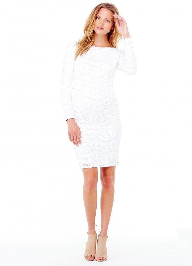 Boatneck Lace Dress Winter White. Lace Maternity DressesLace DressesBaby  Shower ...