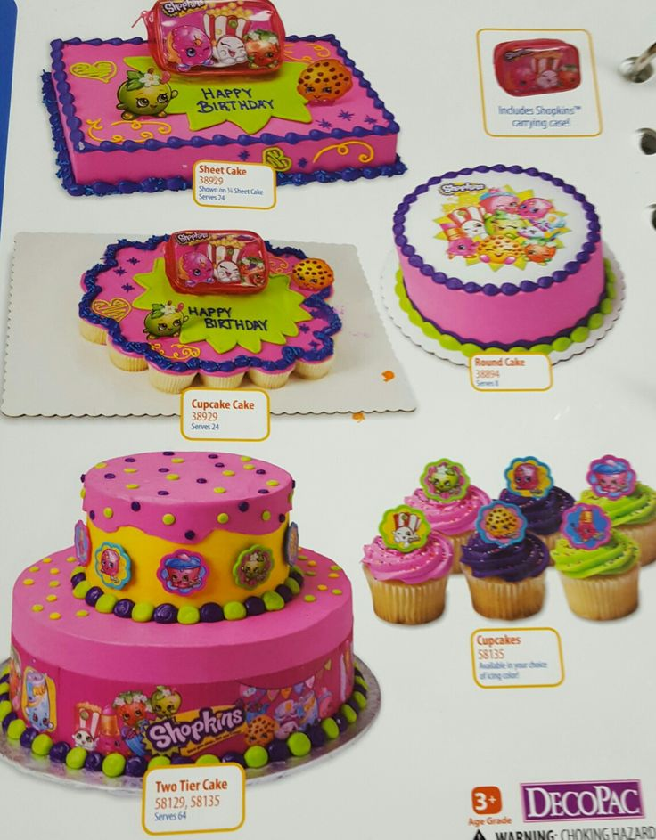 Shopkins Cake And Cupcakes Shopkins Party Ideas