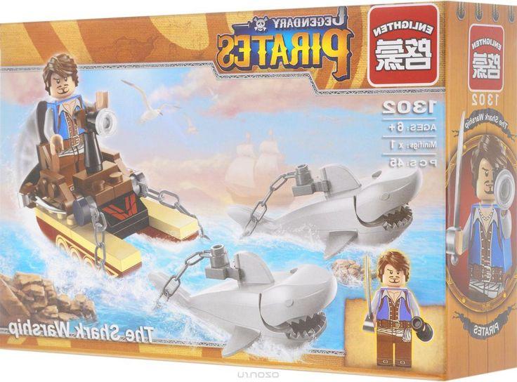 Enlighten Brick Конструктор Корабль акулы