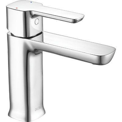 Delta Project-Pack Single Handle Bathroom Faucet with Drain Assembly Flow Rate: 1.2 GPM