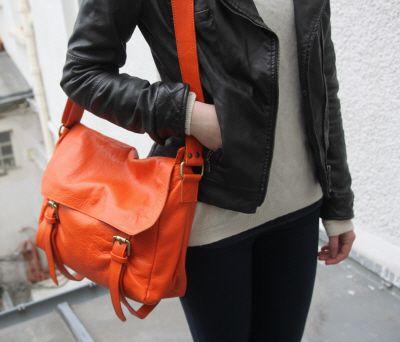 sac cuir Niki orange