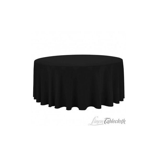 Round Economy Polyester Tablecloth Black 999 Liked On Polyvore Featuring