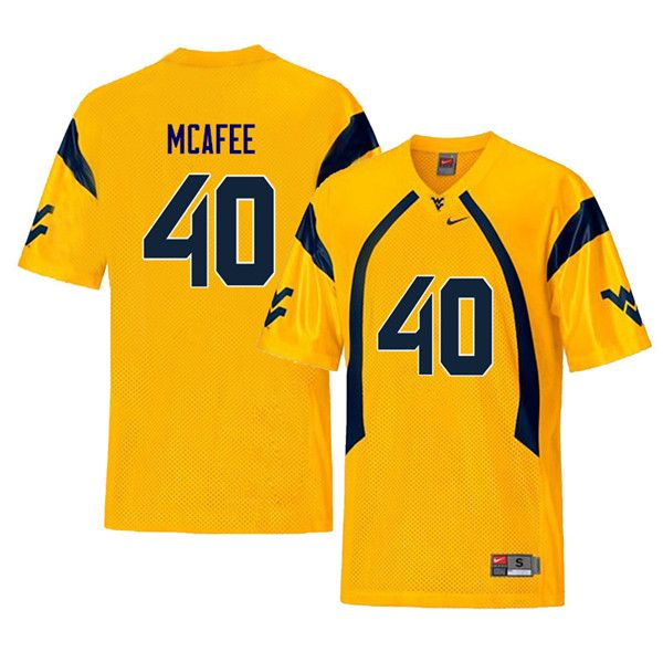 free shipping c25a6 c3972 Men #40 Pat McAfee West Virginia Mountaineers Retro College ...