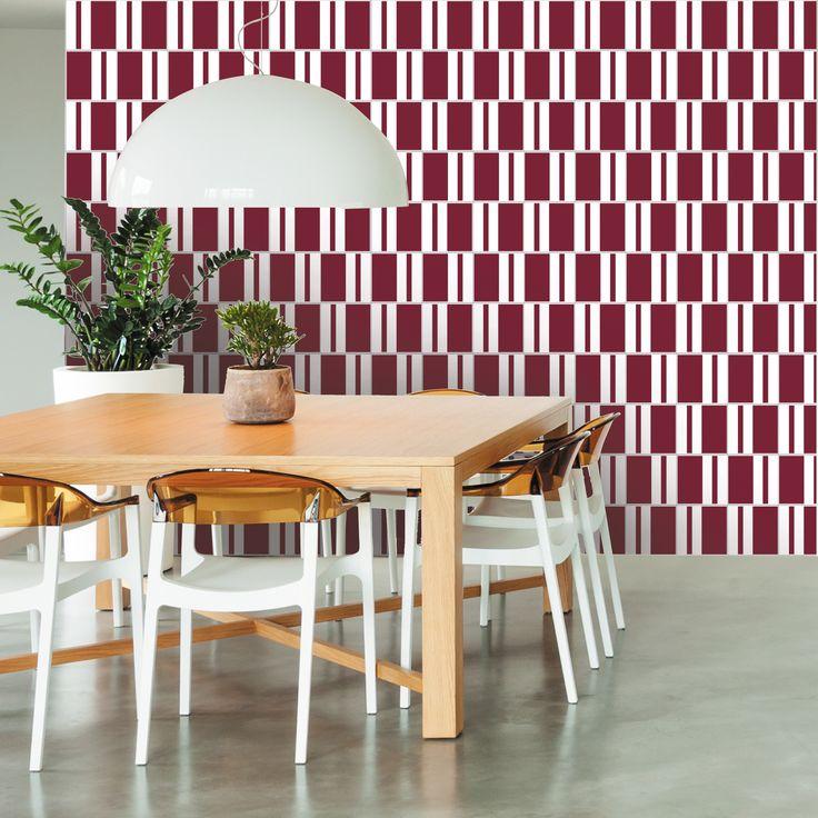 Lurca Azulejos   Tebas Burgundy Ceramic Tile // Azulejo Tebas Vinho // Shop Online http://www.lurca.com.br/  #azulejos #azulejosdecorados #revestimentos #arquitetura #interiores #decor #design #sala #reforma #decoracao #geometria #casa #ceramica #architecture #decoration #decorate #style #home #homedecor #tiles #ceramictiles #homemade
