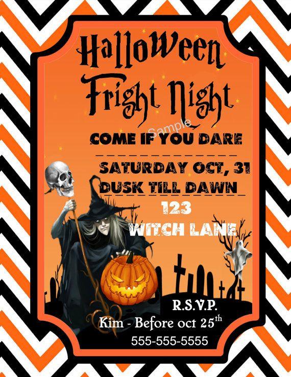 Halloween Party Invitation digital download by WeddingsBabiesHome
