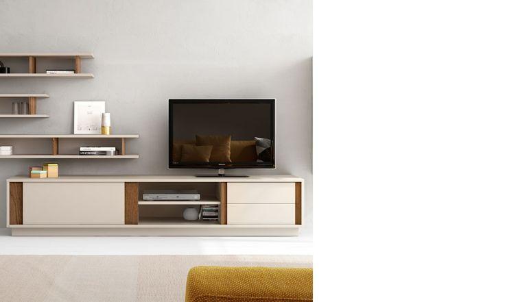 1000 id es sur le th me meuble tv blanc laqu sur - Meuble laque beige ...