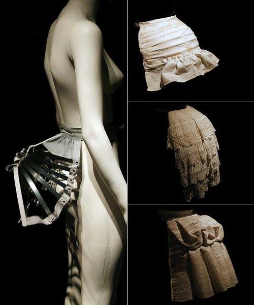 Polisón: estructura que arma y da volumen a la falda.