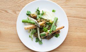 Nuno Mendes' summer recipes: asparagus migas with sorrel, fennel and garlic | Life and style | The Guardian