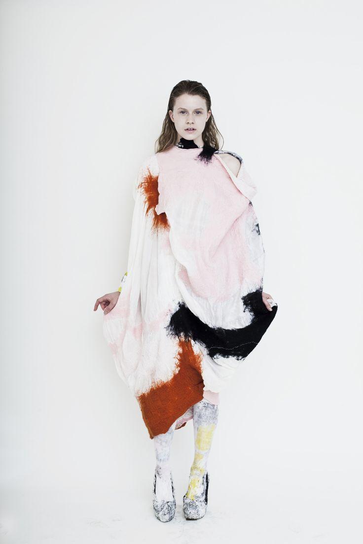 MUUSE x VOGUE Talents Community's Choice finalist: Anita Hirlekar, Central Saint Martins  'The Handfelted Collection'  http://www.muuse.com/#!voguevote