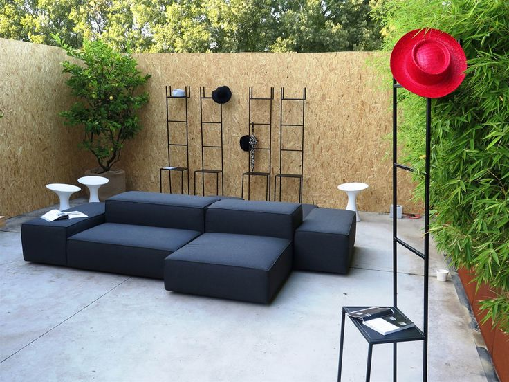 chic outdoor living installation with great pieces from living divani extrasoft kale stools. Black Bedroom Furniture Sets. Home Design Ideas