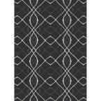 Washable Amara Black 5 ft. x 7 ft. Pet Friendly 2-Piece Ruggable Area Rug System 138394 at The Home Depot - Mobile