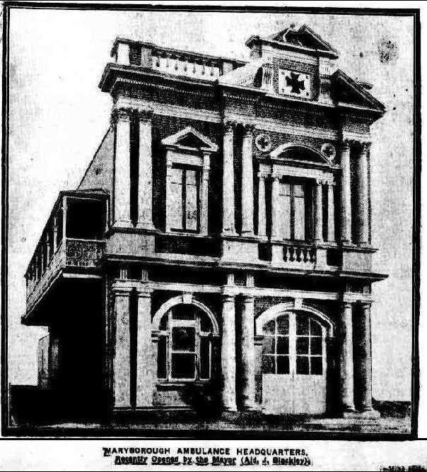 Maryborough Ambulance Headquarters. The Brisbane Courier 16 October 1915 (Trove)