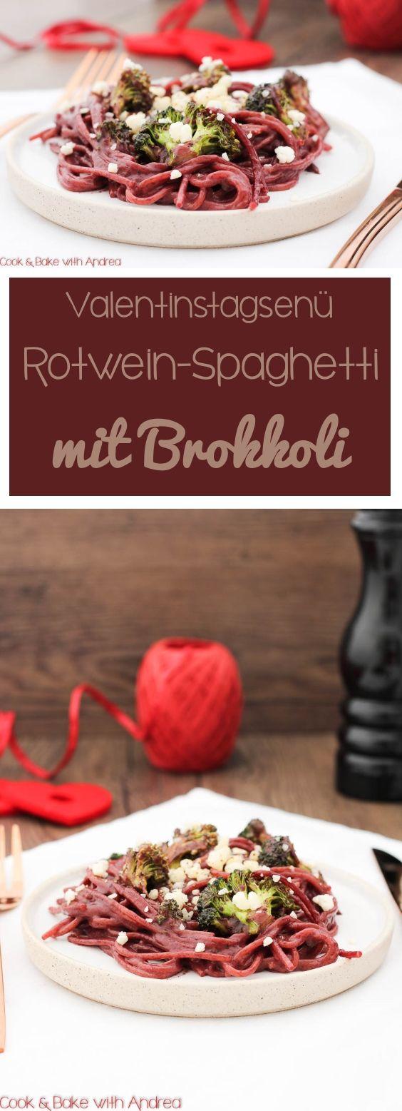 Der Hauptgang meines Valentinstagsmenü sind betrunkene Rotwein-Spaghetti mit Brokkoli. #valentinstag #brokkoli #rotwein #rot #betrunken #drunken #spaghetti #pasta #käse #liebe #menü #hauptgang #hauptspeise #blog #rezept #blog #foodblog