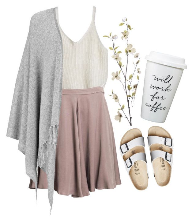 Spring time by smokingflowers on Polyvore featuring Joseph, Reiss, Birkenstock and Pier 1 Imports