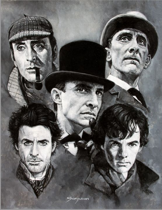 Sherlock Holmes'sssss!....ssss...is that meant to be Cumberbatch bottom right?.....