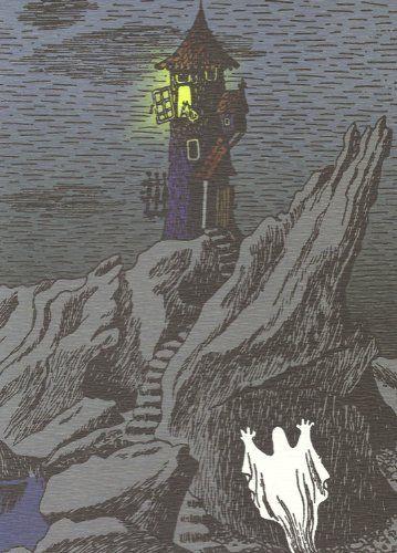 Retro Moomin Postcard - Moominhouse Ghost