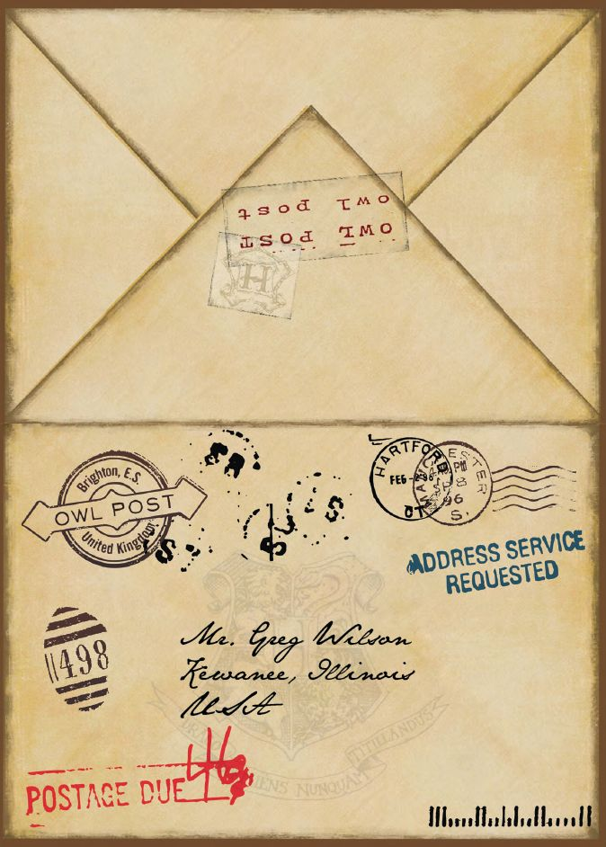 Awesome!!!!  Harry Potter Party - envelope
