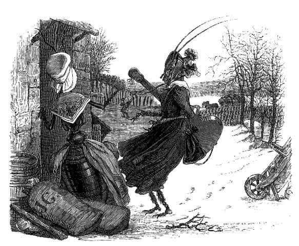 La Cigale et La Fourmi, illustration par Grandville