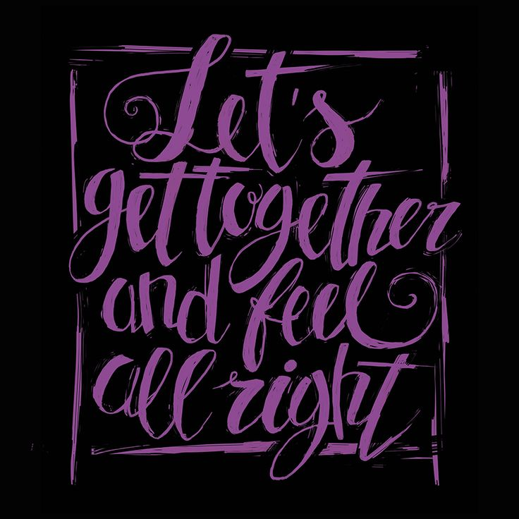 Let's get together and feel all right  #typo #typography #lettering #postertypography #graphic #graphicdesigner