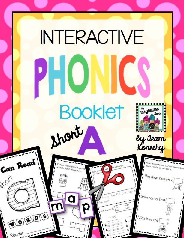 Freebie* Try out this Interactive Phonics Booklet. Great for small group instruction or independent activity.