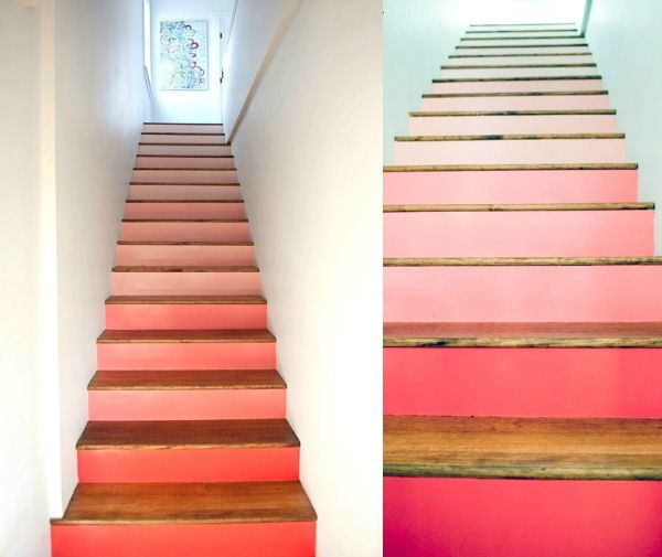 17 beste idee n over verf trap op pinterest trappen schilderen geschilderde trap en kelde - Geschilderde trapmodel ...