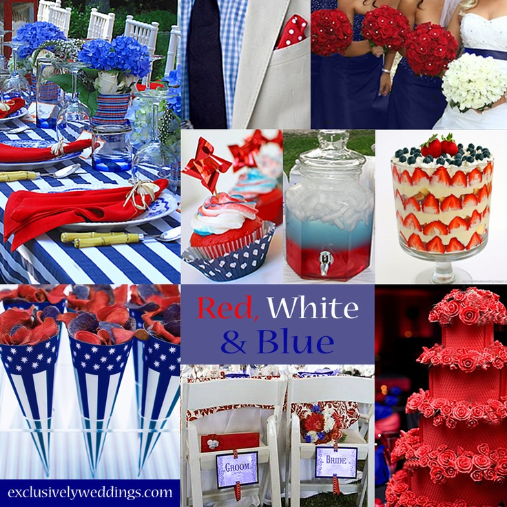 White And Blue Wedding Ideas: 180 Best Red, White & Blue Wedding Inspirations Images On
