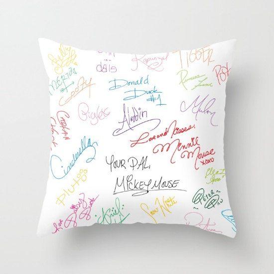 disney character cast members autograph signatures disneyworld disneyland throw…