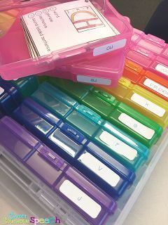 How I'm Organizing My Speech Therapy Materials -