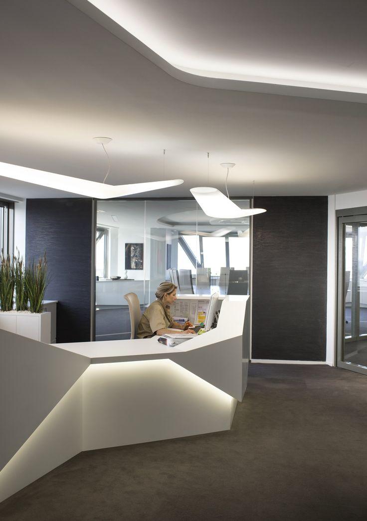 Espace daccueil et de réception aménagé par cléram style design bureau